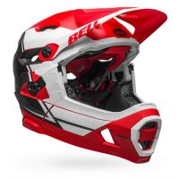 CASCO BELL SUPER DH MIPS ROSSO SINISTRA