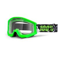 MASCHERA 100% STRATA CRAFTY LIME CLEAR LENS
