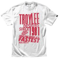 TROY LEE DESIGNS PASTED TEE BIANCO