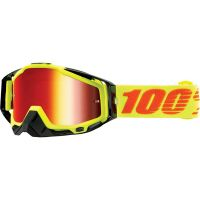 MASCHERA 100% RACECRAFT ATTACK YELLOW MIRROR RED LENS