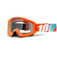 MASCHERA 100% STRATA ORANGE CLEAR LENS