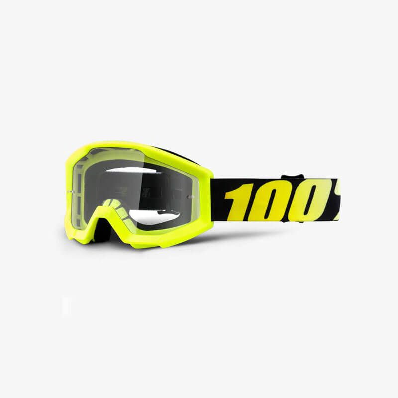 MASCHERA 100% STRATA YOUTH NEON YELLOW