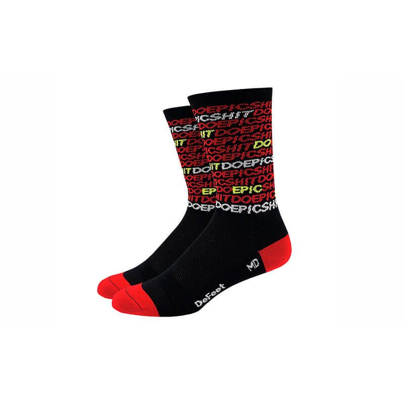 CALZE DEFEET AIR6 DO EPIC SHIT ROSSO