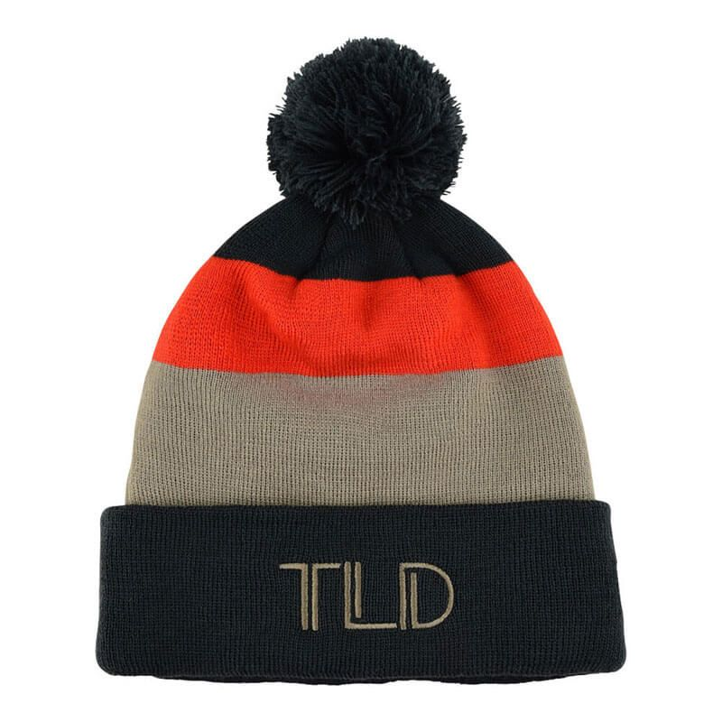 CAPPELLO TROY LEE DESIGNS BLOCK POM BEANIE