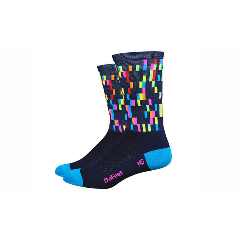 CALZE DEFEET AIR6 PIXEL NAVY