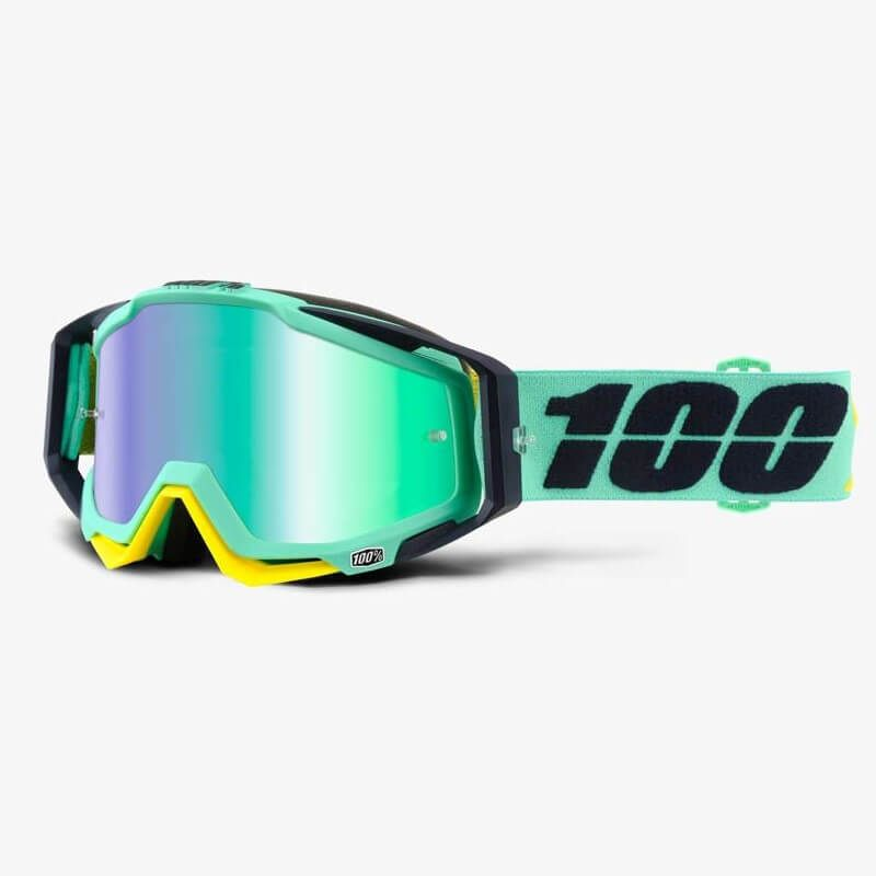 MASCHERA 100% RACECRAFT KLOOG MIRROR GREEN LENS