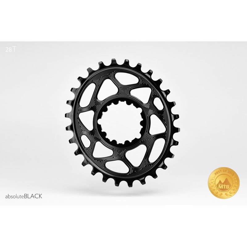 CORONA OVALE ABSOLUTE BLACK SRAM DM GXP 6MM